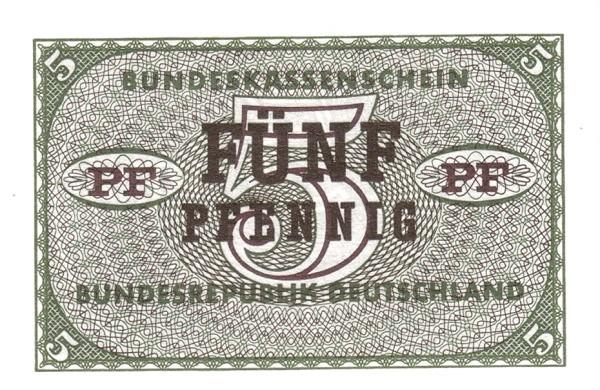Germany 5 Pfennig (Bundeskassenschein)