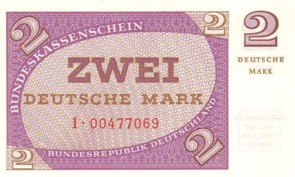 Germany 2 Mark (Bundeskassenschein)