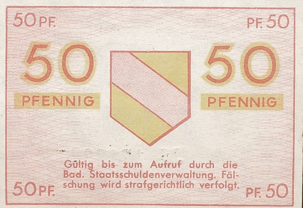 Germany 50 Pfennig (Land Baden 1947)