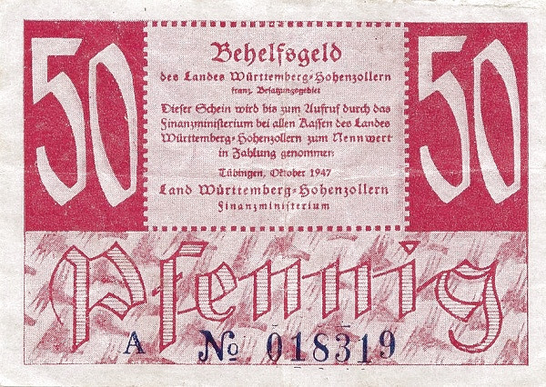 Germany 50 Pfennig (Behelfsgeld 1947)