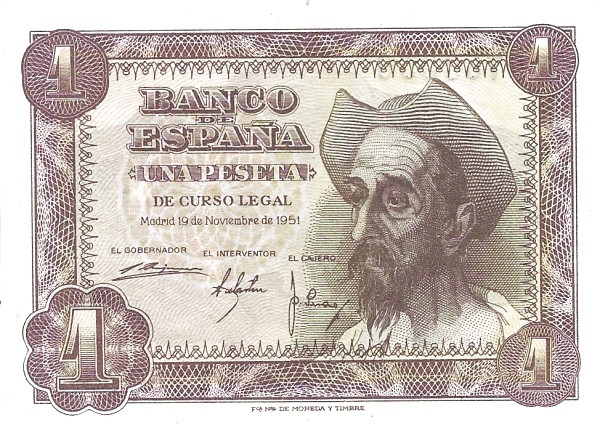 Spain 1 Peseta (Don Quijote)