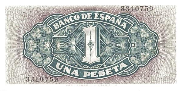 Spain 1 Peseta (Santa Maria)