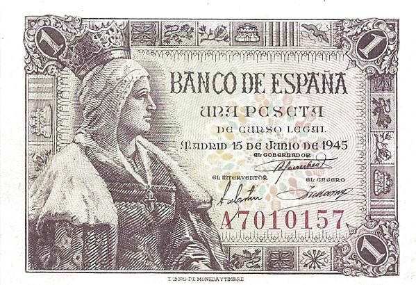 Spain 1 Peseta (Isabel la Catolica)