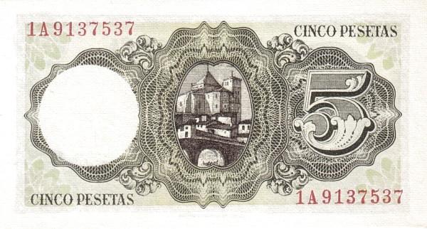 Spain 5 Pesetas (Jaime Balmes)