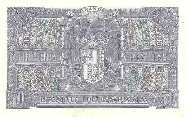 Spain 50 Pesetas (Marcelino Menendez)