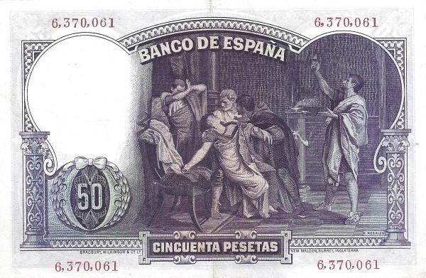 Spain 50 Pesetas (Eduardo Rosales)