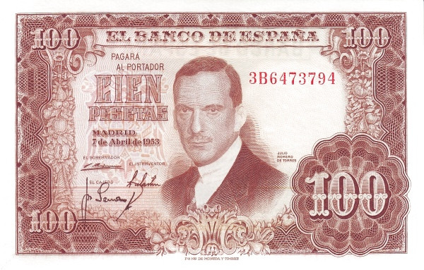 Spain 100 Pesetas (Juan Romero de Torres)