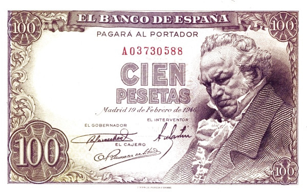 Spain 100 Pesetas (Francisco de Goya)