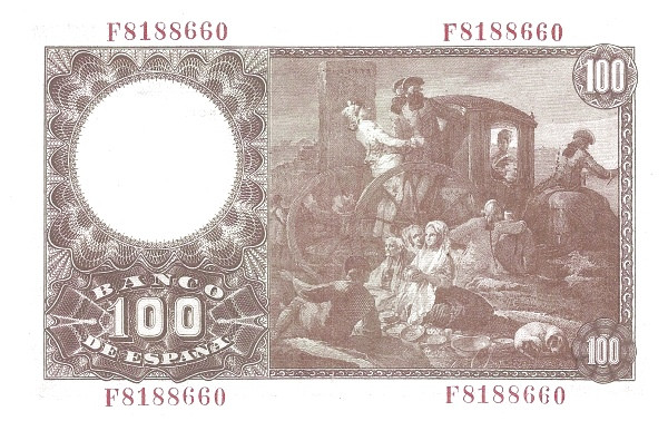 Spain 100 Pesetas (Francisco Bayeu)