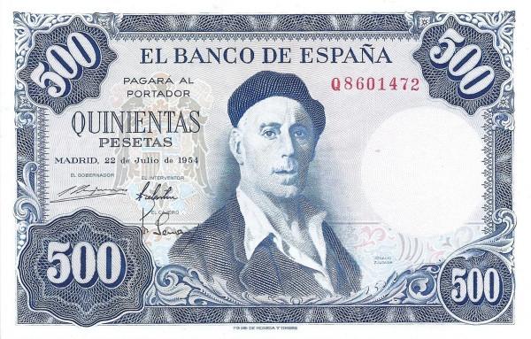 Spain 500 Pesetas (Ignacio Zuloaga)