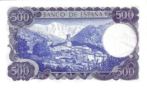 Spain 500 Pesetas (Jacinto Verdaguer)