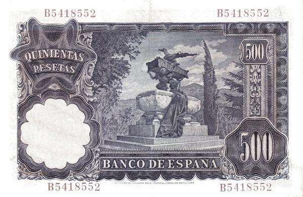 Spain 500 Pesetas (Mariano Benlliure)