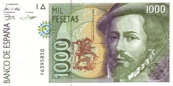 Spain 1000 Pesetas (Hernan Cortes)