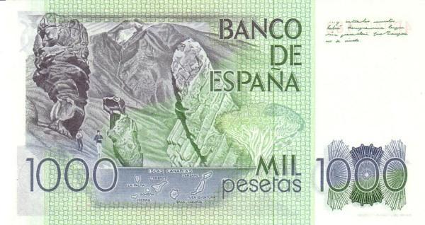 Spain 1000 Pesetas (Benito Perez Galdos)