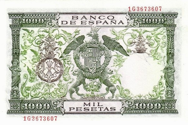 Spain 1000 Pesetas (Reyes Catolicos)