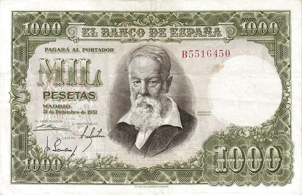 Spain 1000 Pesetas (Joaquin Sorolla)