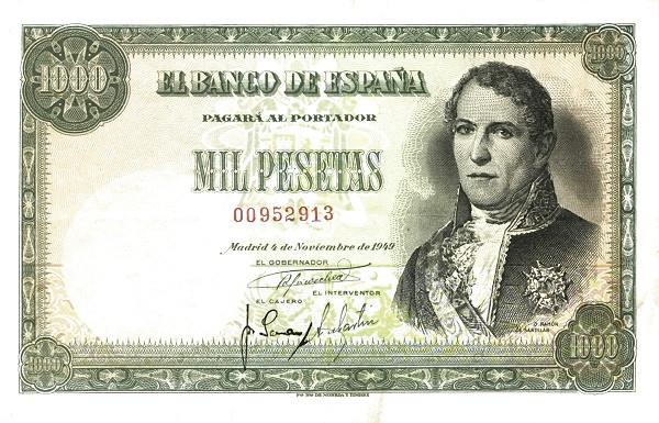 Spain 1000 Pesetas (Ramon de Santillan)