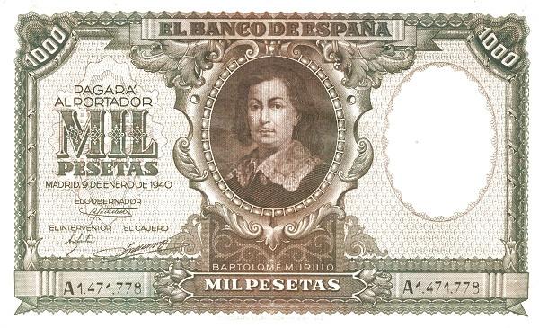 Spain 1000 Pesetas (Bartolome Murillo)