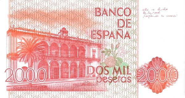 Spain 2000 Pesetas (Juan Ramon Jimenez)