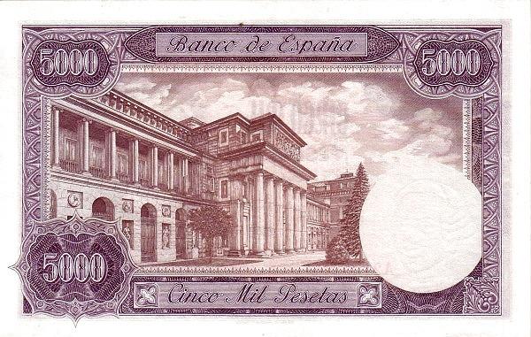 Spain 5000 Pesetas (King Carlos III)