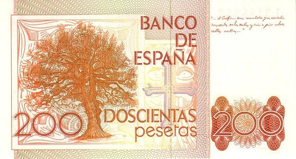 Spain 200 Pesetas (Leopoldo Garcia-Alas)