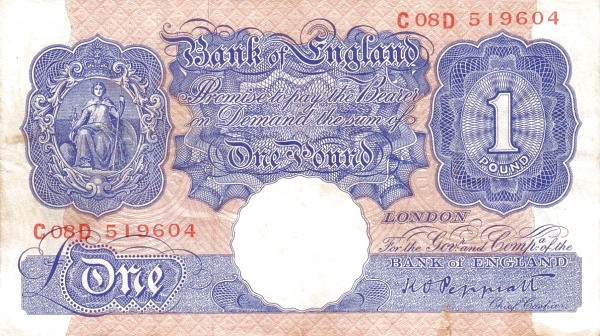 British 1 Pound (1940-1948 Emergency)