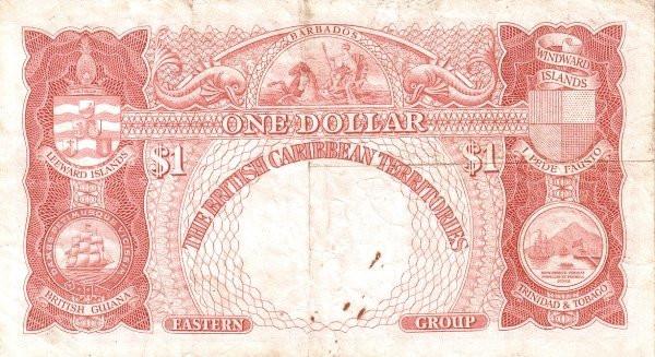 Eastern Caribbean 1 Dollar (George VI British Caribbean Territories)