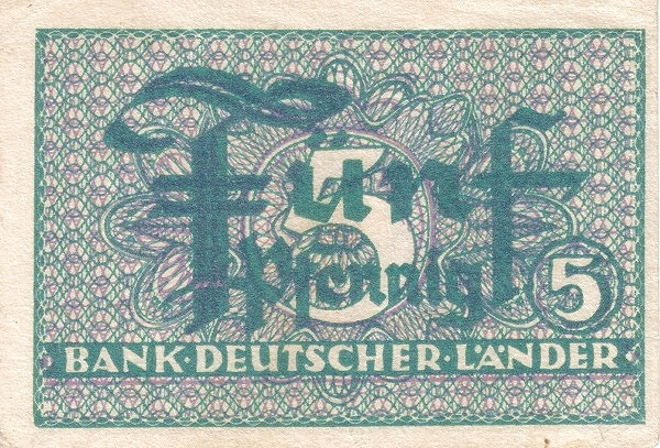 Germany 5 Pfennig (Bank Deutcher Länder )