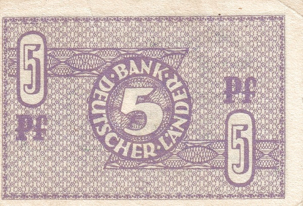 Germany 5 Pfennig (Bank Deutcher Länder )