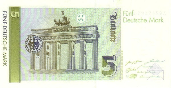 Germany 5 Mark (1989-1993 Deutsche Bundesbank)