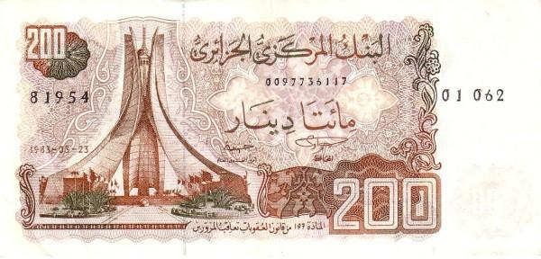 Algeria 200 Dinars