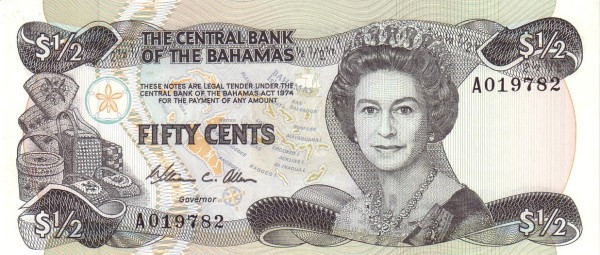 Bahamas 50 Cents (1984-Central Bank of the Bahamas)