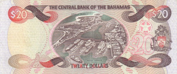 Bahamas 20 Dollars (1997, 2000,2001-Central Bank of the Bahamas)