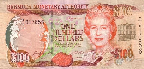 Bermuda 100 Dollars (2000-2007 Elizabeth II-Bermuda Monetary Authority)