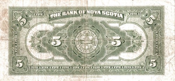 Canada 5 Dollars (1935-Bank of Nova Scotia)