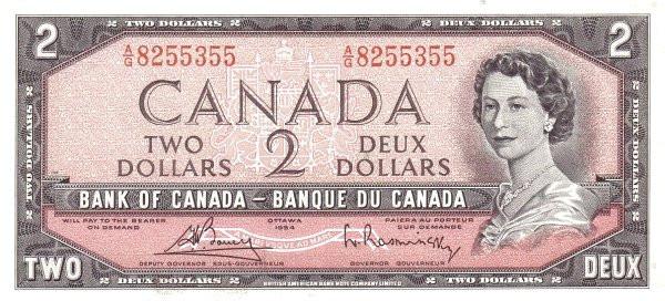 Canada 2 Dollars (1954-1987 Bank of Canada)