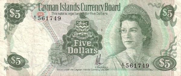 Cayman Islands 5 Dollars
