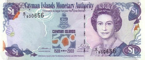 Cayman Islands 1 Dollar (2003 Cayman Islands Monetary Authority)