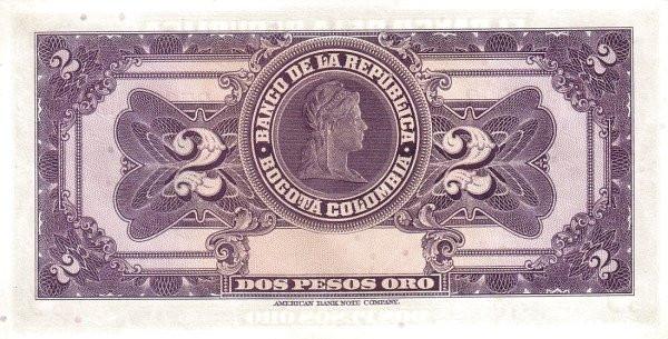 Colombia 2 Pesos (1942-1955)
