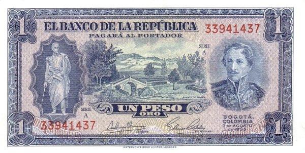 Colombia 1 Peso (1953-1967)