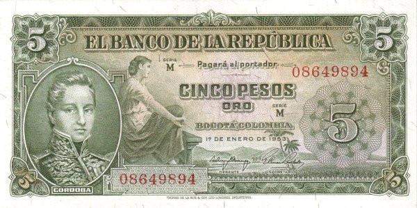 Colombia 5 Peso (1953-1967)