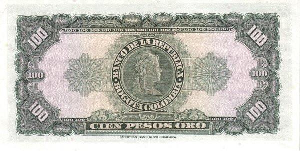 Colombia 100 Pesos (1953-1967)