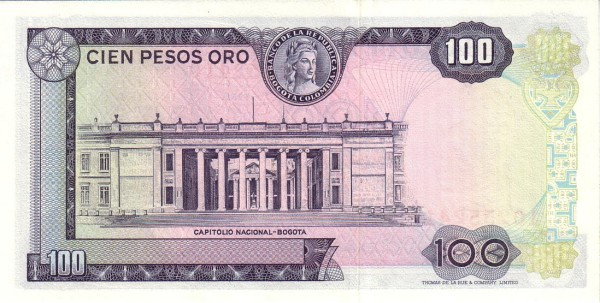 Colombia 100 Pesos (1968-1971)