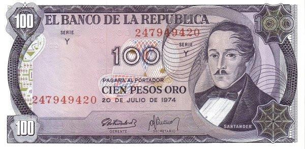 Colombia 100 Pesos (1972-1977)