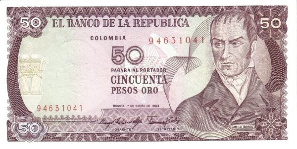 Colombia 50 Pesos (1980-1987)
