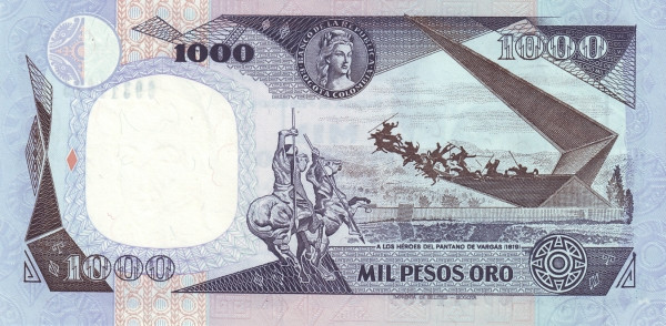 Colombia 1000 Pesos (1980-1987)
