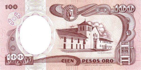 Colombia 100 Pesos (1982-1991)