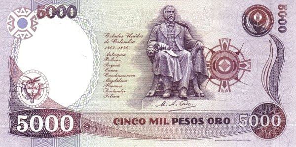 Colombia 5000 Peso (1986)