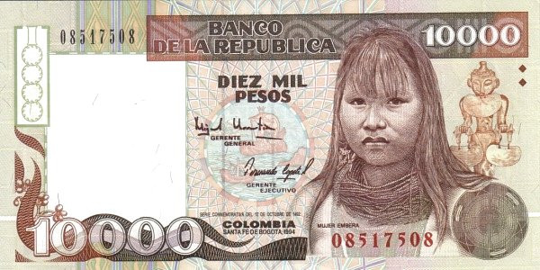 Colombia 10000 Peso (1993-1994)