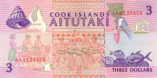 Cook Islands 3 Dollars